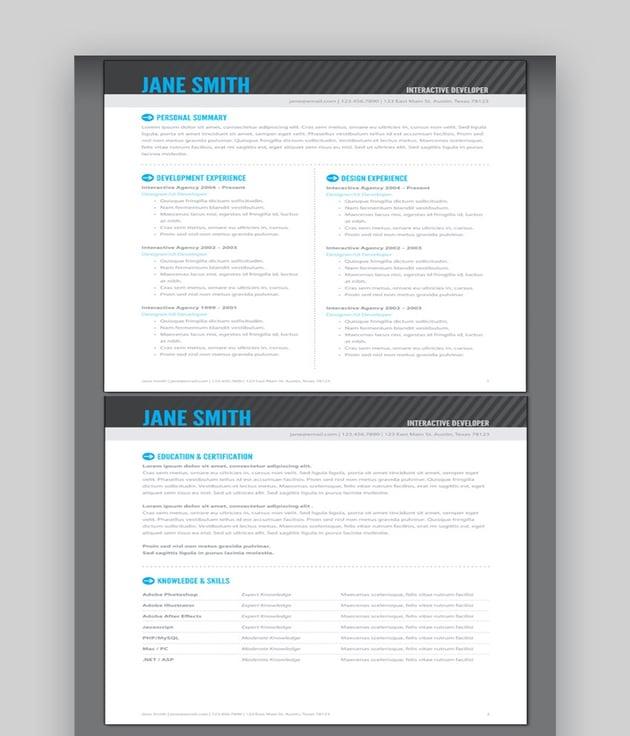 Simple Adobe InDesign Resume Templates
