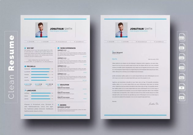 Highlight Your Achievements On CV Template InDesign
