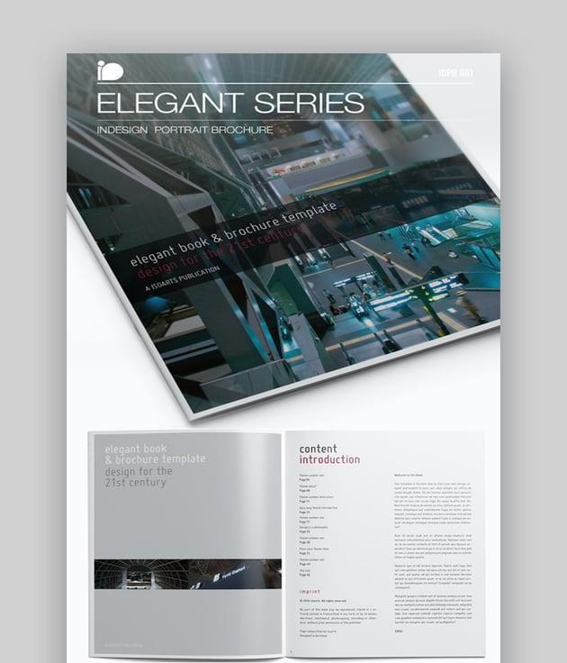 Elegant Series Portrait Brochure Design