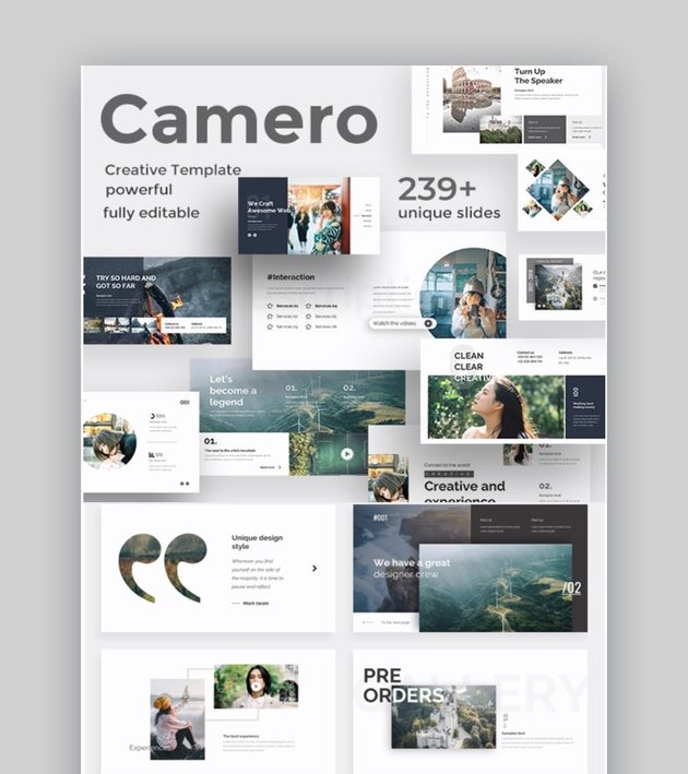 Camero Models of Change PPT Template