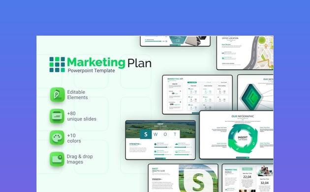 Marketing Plan Presentation on Change Management Process Template