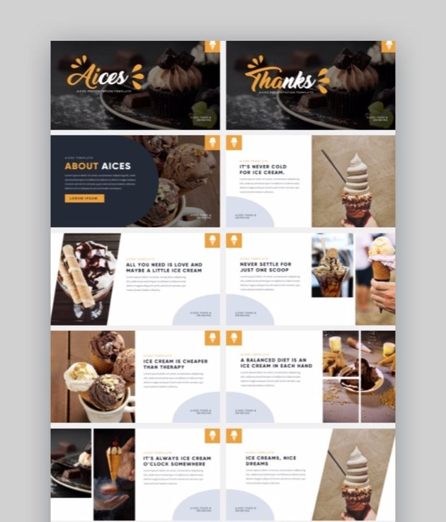 Aices - Food Photography PowerPoint Template