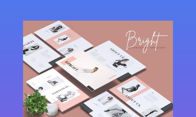 Bright Fashion Photography Presentation