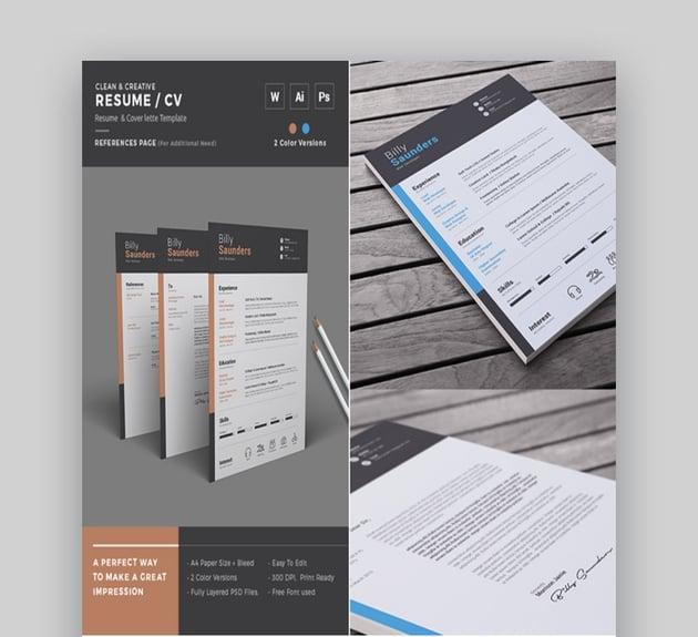 Simple Creative Resume Microsoft Word Template