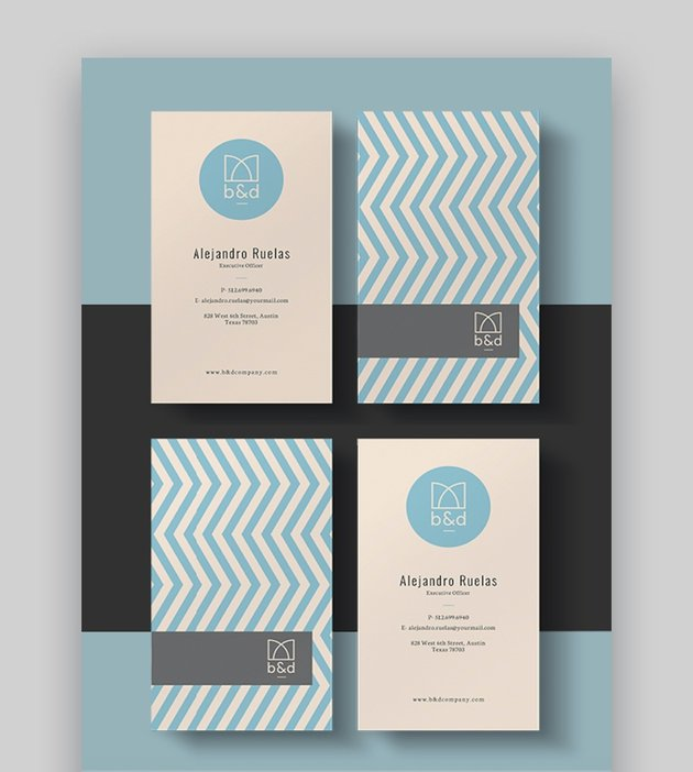 Two-Sided Business Card Template