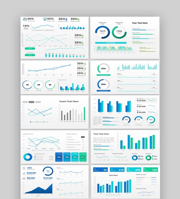Sales Dashboard PowerPoint Template