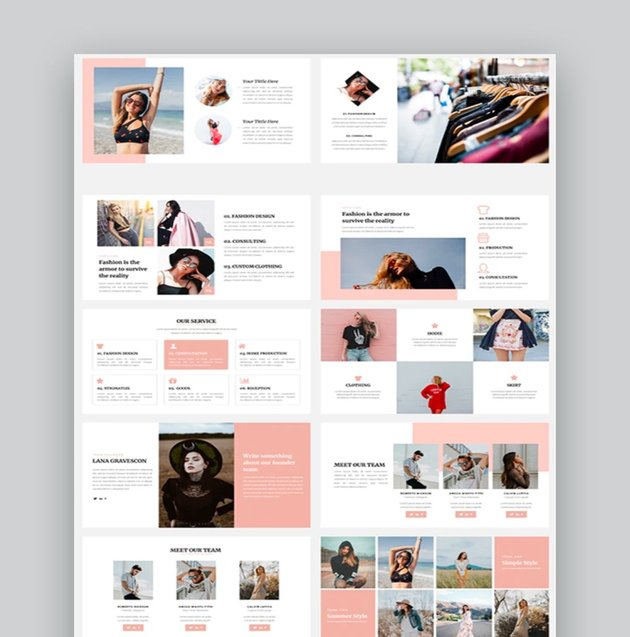 Rapeller - Fashion PowerPoint Template