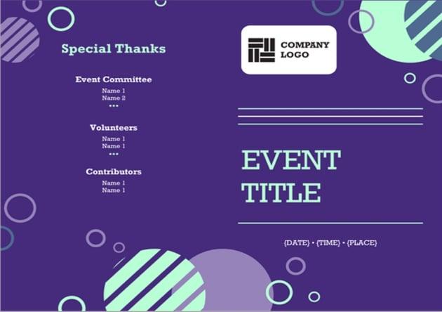 Company Event Program