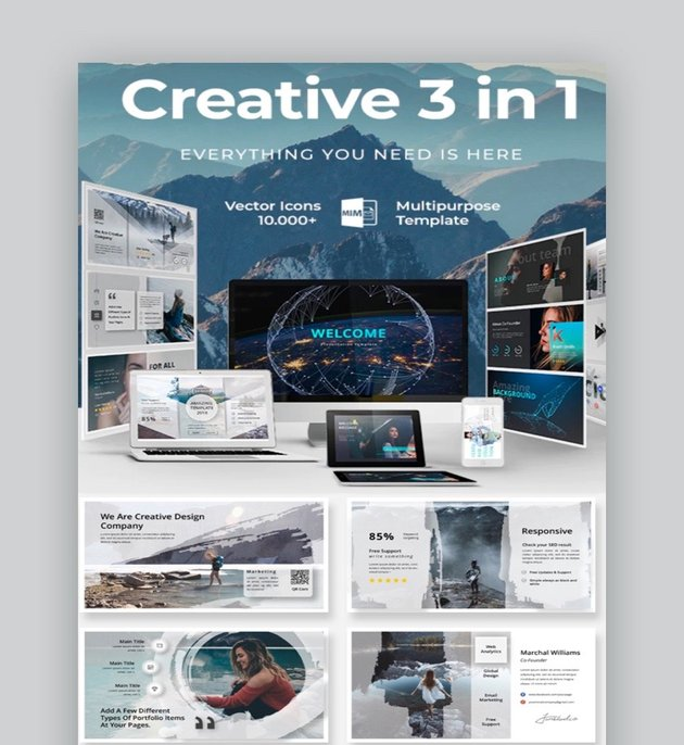 Creative 3 in 1 Bundle PowerPoint Template