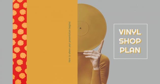 Vinyle Shop Google Slides Music Themes