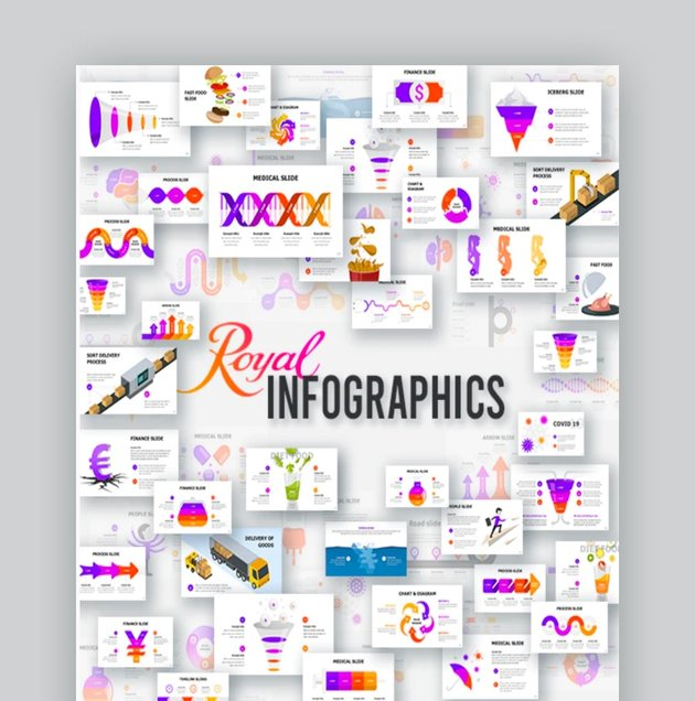 Royal Infographics Keynote Vector Graphics