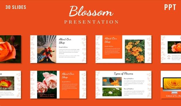 powerpoint templates flowers- Vibrant