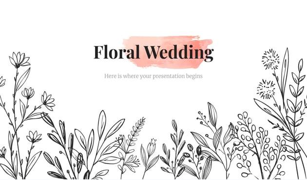 flower slides- wedding flower PowerPoint presentation template
