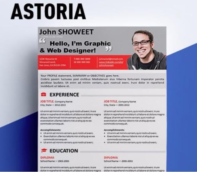 Astoria Editable Teacher Resume Template Free Download