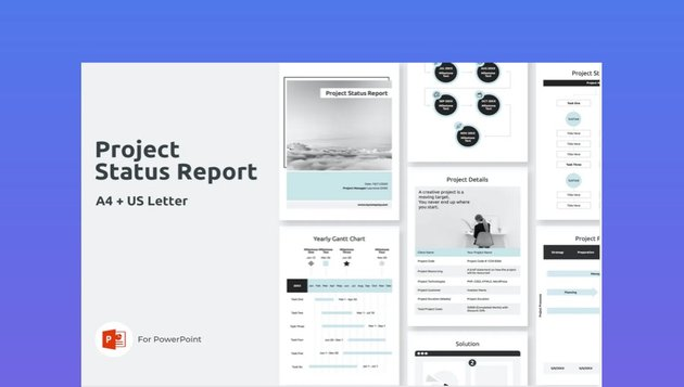 A4 Project Status Report Vertical PowerPoint