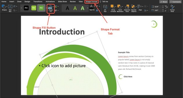 Plant PowerPoint Template Tutorial Step 1