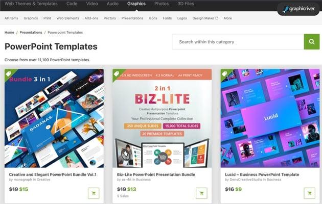 Best PowerPoint presentation design templates on GraphicRiver (2021)