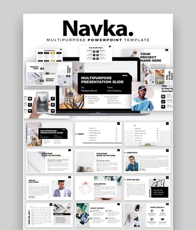 Navka PowerPoint CV Template