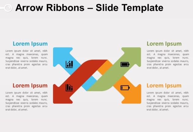 Arrow Ribbons Slide Template
