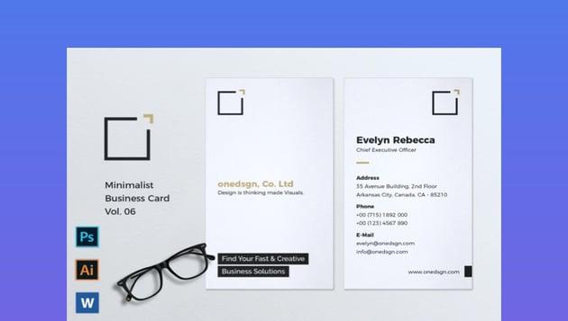 Minimalist Business Card Vol 6