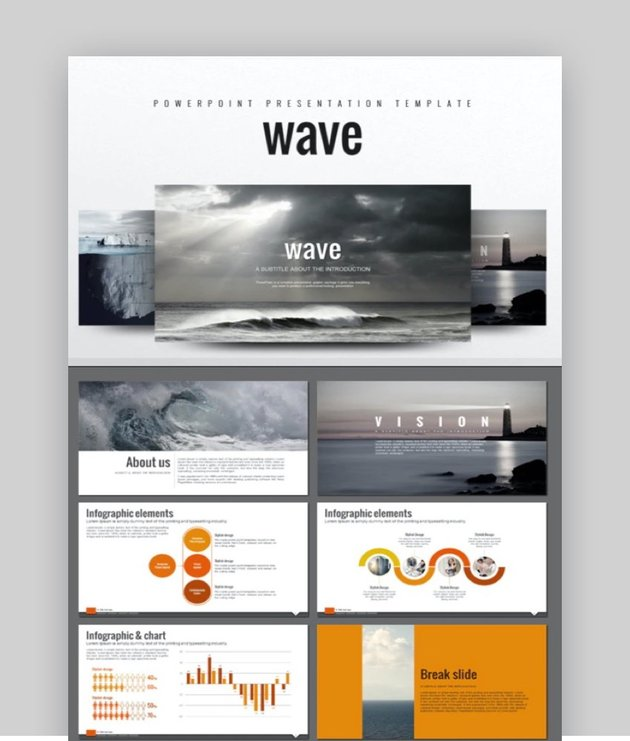 Wave Powerpoint template