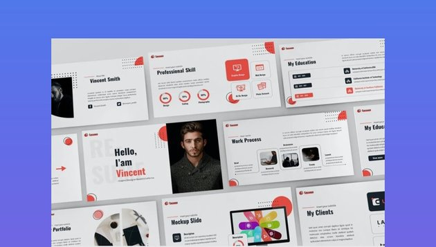 Persoon resume PowerPoint template