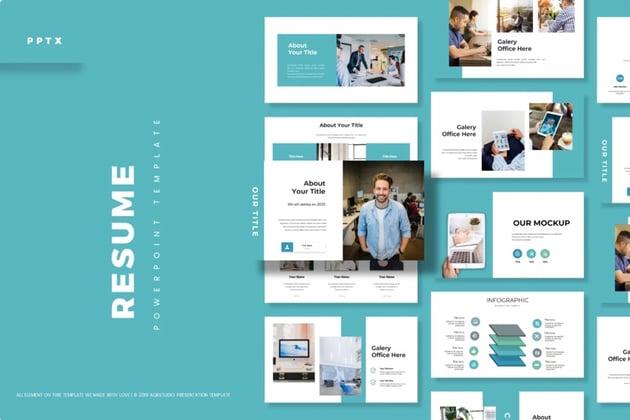 Premium resume PPT from Envato Elements.