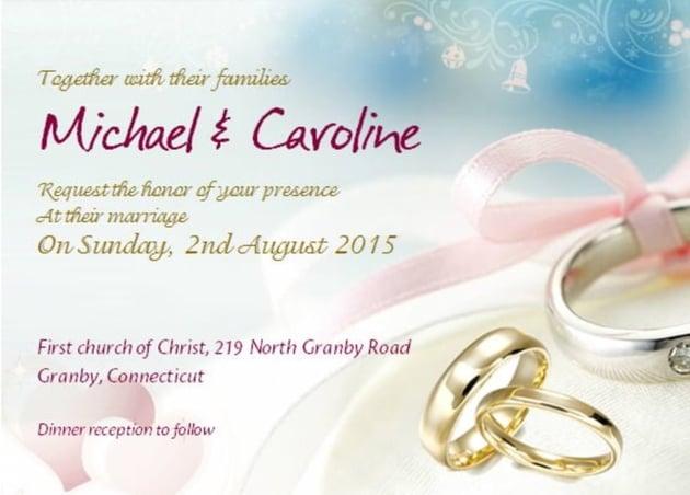 Microsoft Word Wedding Invitation