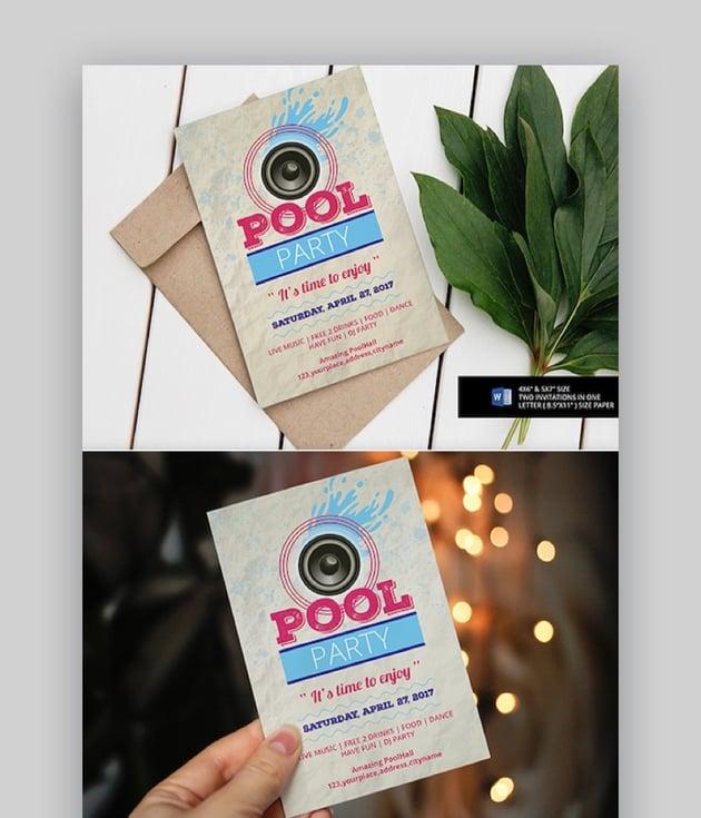 Pool Party Invitation
