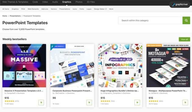 GraphicRiver has hundreds of trendy PowerPoint templates