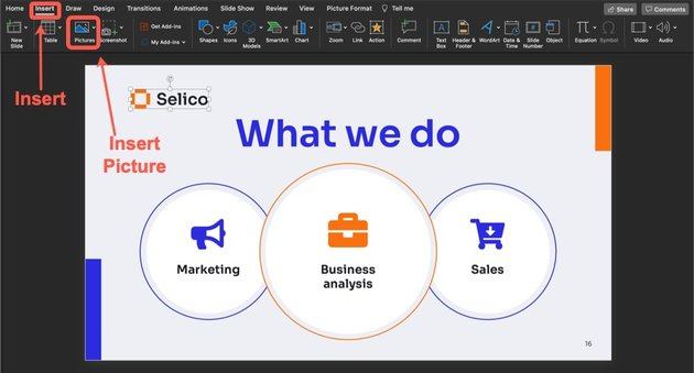 How to change the company name and logo on your sales PowerPoint slide