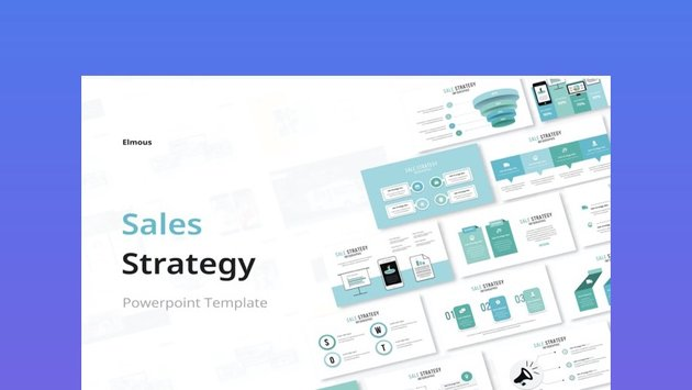 Sales Strategy Infographic PowerPoint Template