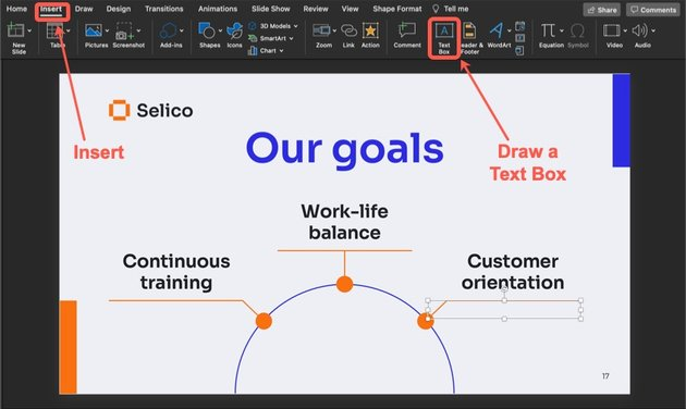 How to add another goal to your slide.