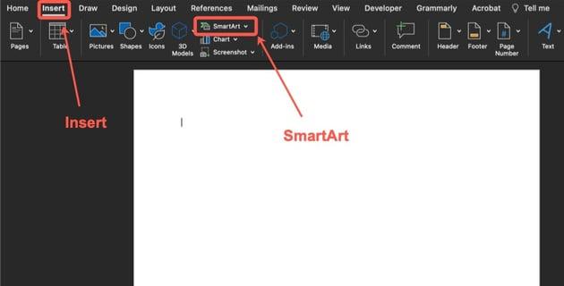 Insert SmartArt