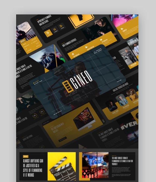 CINEO - Filmmaker & Movie Studio PowerPoint Template