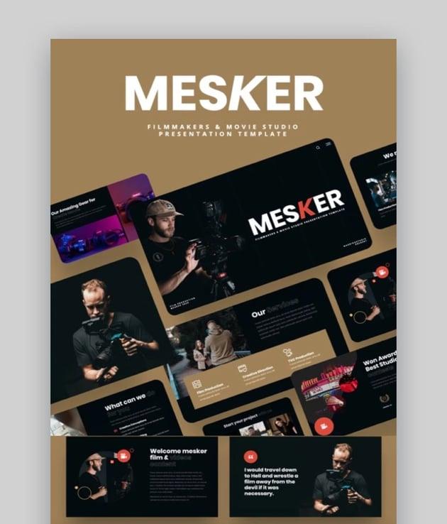 MESKER- Filmmakers & Movie Studio PowerPoint Template