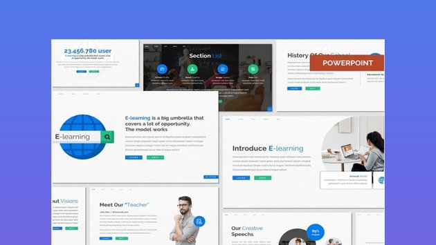 eLearning Education PowerPoint Template