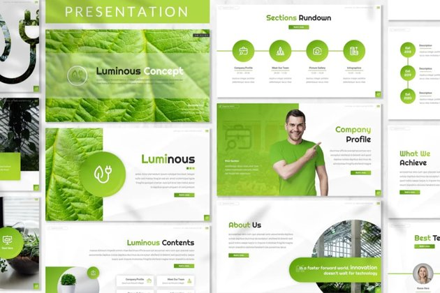 Luminous Green Energy Presentation Template