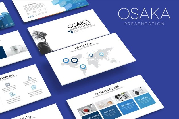 Osaka Business Google Presentation is a premium template from Envato Elements.