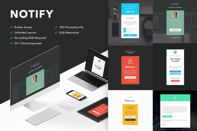 Templates with a clean and simple design don't distract the audience from your main message.