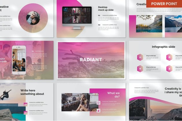 A timer can be added to this multi-purpose PowerPoint template.