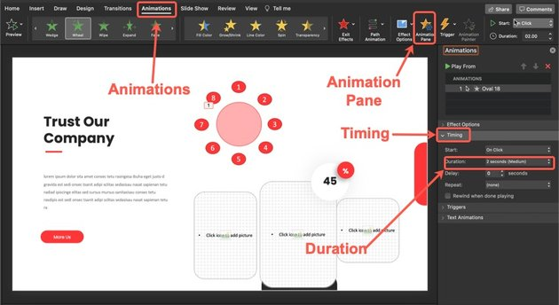 Customize the duration of your clock.