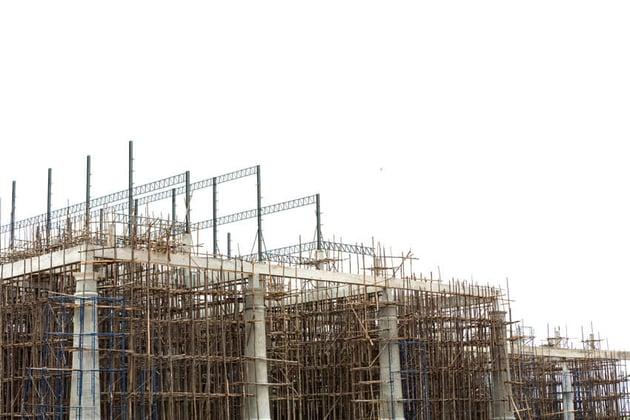 Unfinished Building Construction Site