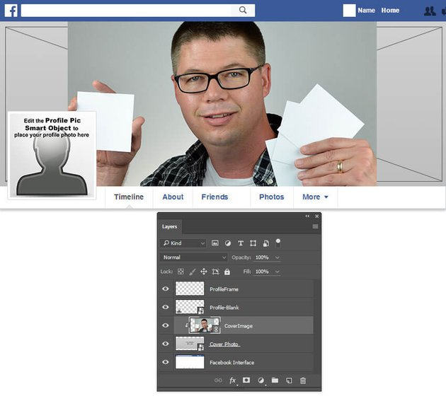 Clip the photo to the cover image layer