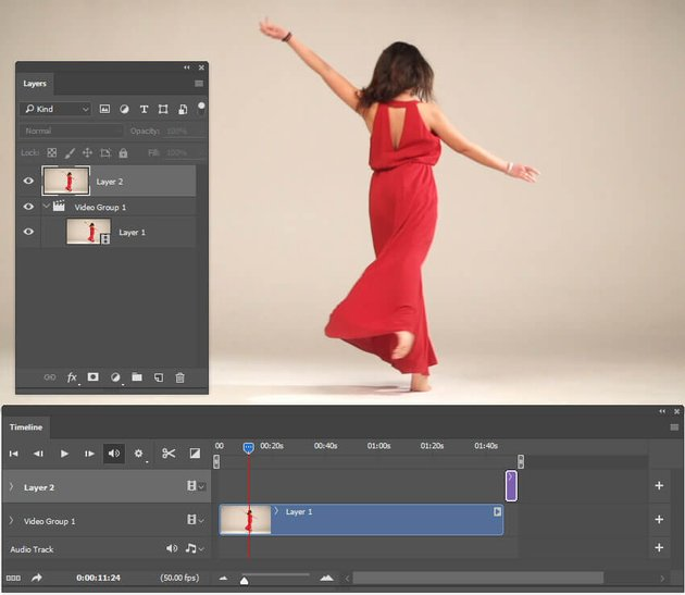 Create a new layer from the copied frame