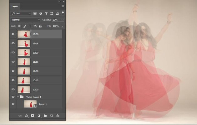 Generate layers in 15 frame intervals