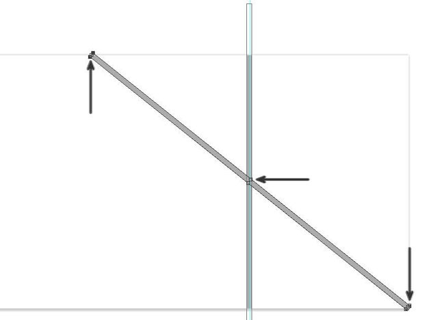 copy and rotate the rectangle shape