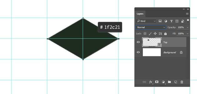 Draw a diamond shape