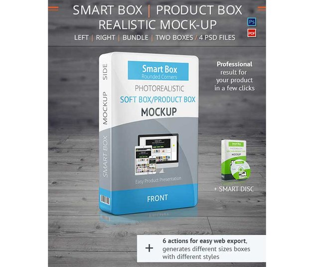 Realistic Smart Box Product Mock-Up Vol2
