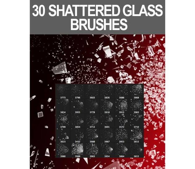 30 Shattered Glass Brushes